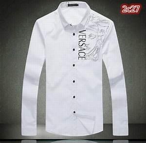Mens Versace Shirt Cotton Long Sleeve Fashion Men's Button ...