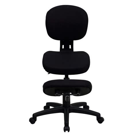 mfo mobile ergonomic kneeling posture task chair in black