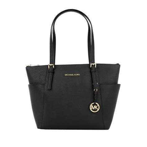 michael kors luxury michael kors jet set item ew tz tote black in schwarz fashionette