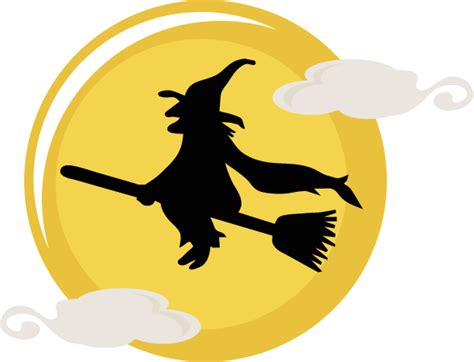 flying witch svg cut file halloween svg files cute