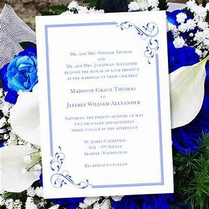 printable wedding invitation template quotelegancequot royal With free printable wedding invitations royal blue