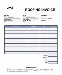 Invoice for roofing template joy studio design gallery for Sample roofing invoice