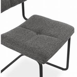 Chaise Tissu Design : chaise design capitonn e bonou en tissu gris fonc ~ Maxctalentgroup.com Avis de Voitures
