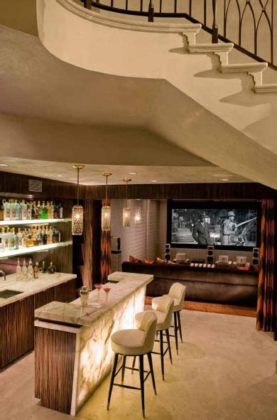 Bar In House by Theater And Room With Billiards And A