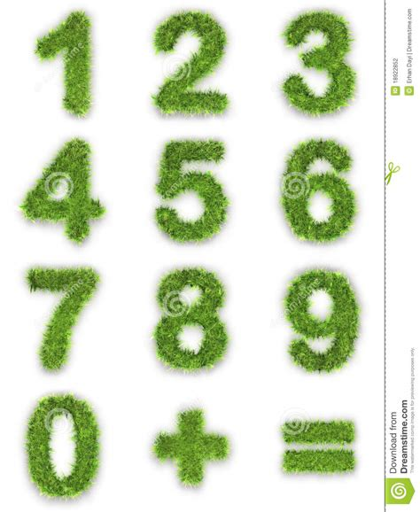 and numbers letter a made of grass stock numbers made of green grass stock photography image