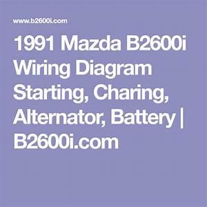 1991 Mazda B2600i Wiring Diagram Starting  Charing