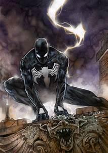 Black Spiderman, in Tom Fleming's Painted art Comic Art ...