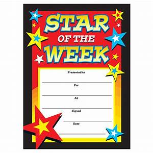 certificates star of the week With star of the week certificate template