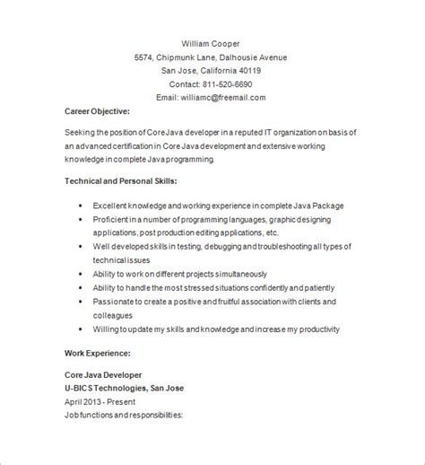 Java Developer Resume Template  14+ Free Samples. Immigration Paralegal Resume. Template For Resume Word. Sample Of Resume Skills And Abilities. Resume For A Stay At Home Mom. Example Of A Resume With No Job Experience. Resume Sample Microsoft Word. Good Hobbies For Resume. Attributes To Put On A Resume