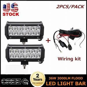 2x 7 U0026 39  U0026 39 In 36w Led Work Light Bar Spot Tundra Bumper Utility