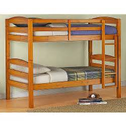mainstays twin over twin wood bunk bed with set of 2