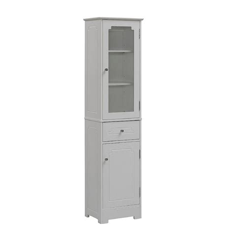 Tower Bathroom Cabinet by Bathroom Linen Storage Tower Cabinet 16x64x12 White Wood