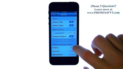 to change ringtone on iphone 5 apple iphone 5 ios 6 how do i change the ringtone for