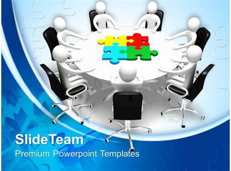 puzzle pieces powerpoint templates board meeting