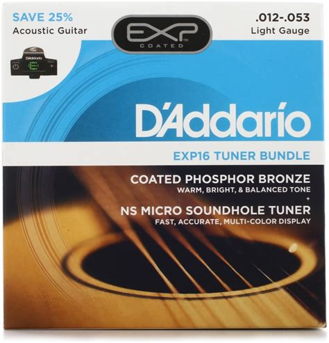 d addario exp16 coated phosphor bronze acoustic strings