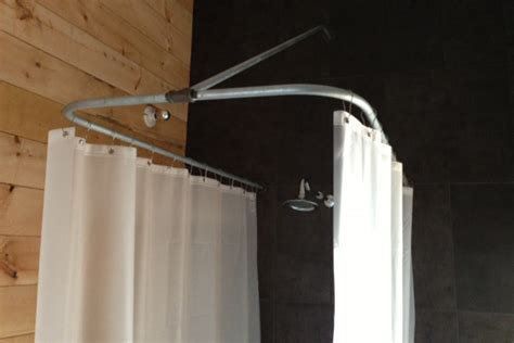 diy clawfoot tub shower curtain rod improvementcenter