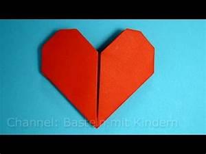 Herz Aus Papier Basteln : herz falten diy geschenk basteln mit papier leichtes ~ Lizthompson.info Haus und Dekorationen