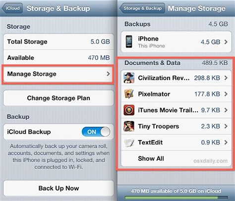 what is documents and data on iphone view delete icloud documents from the iphone
