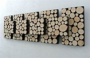 Wood slice wall decor : Rustic wall art modern wood sculpture tree branch
