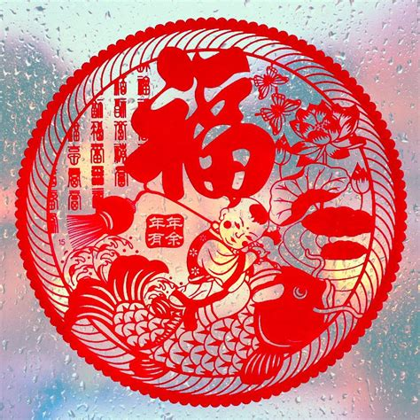 chinese red paper cut pure handmade paper cutting