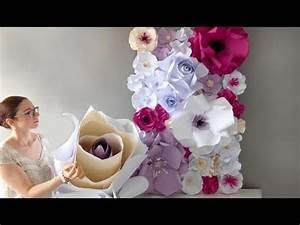 Fleur De Papier : fleurs geantes en papier youtube ~ Farleysfitness.com Idées de Décoration