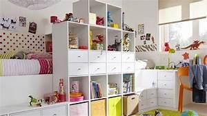 Rangement Ikea Chambre : petits espaces une chambre pour deux enfants ~ Teatrodelosmanantiales.com Idées de Décoration