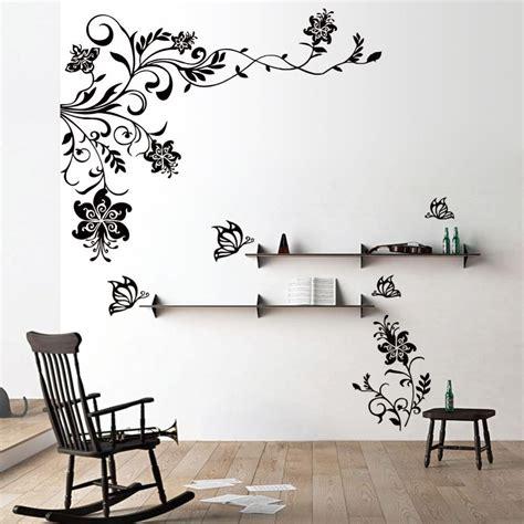 butterfly vine flower wall decals vinyl art stickers living room mural decor alphabet wall
