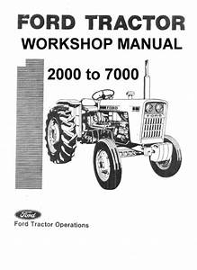 Ford 5000 Series Vintage Tractor Illustrated Parts Manual