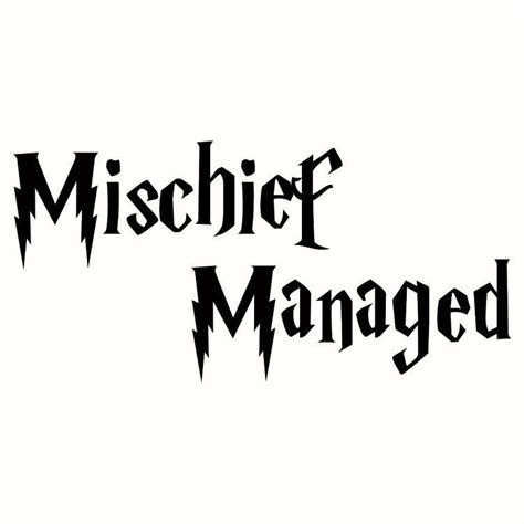 harry potter mischief managed decal sticker choose size color ebay