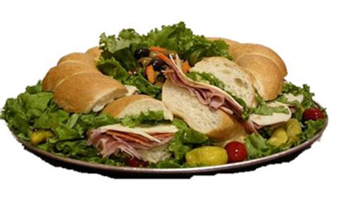 party trays italian food catering sandwich rings