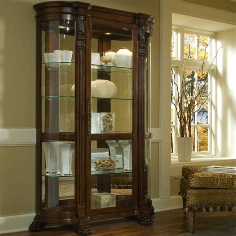 Pulaski Curved Glass Curio Cabinet by Pulaski Foxcroft Curved End Curio Cabinet 102003