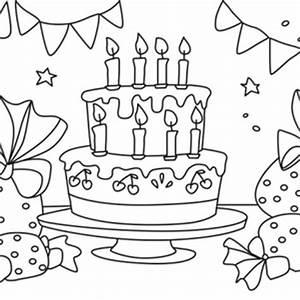 Dessin Gateau Anniversaire : gateau anniversaire coloriage anniversaire ~ Melissatoandfro.com Idées de Décoration