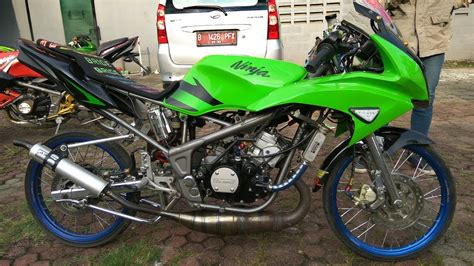 Modifikasi Rr R by Modifikasi Kawasaki Rr Hijau 2013 Knjj