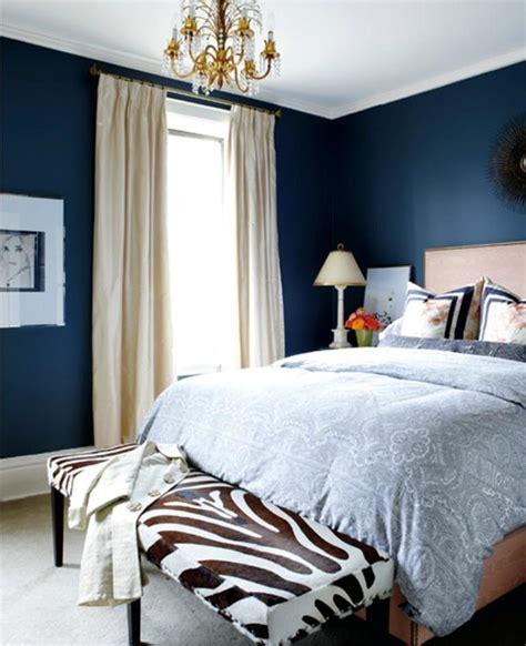vibrant navy blue bedroom design ideas rilane