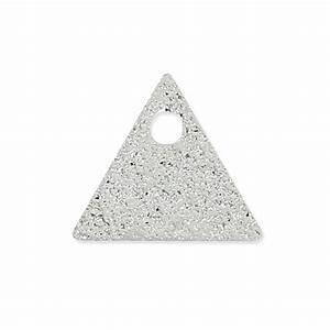 Metal triangle raw medals 8 mm rhodium tone x8 - Perles & Co