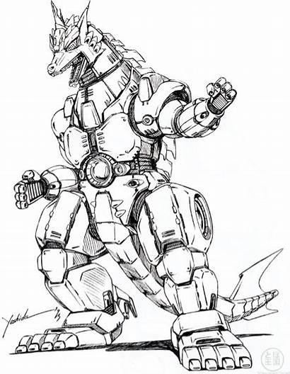 Godzilla Mechagodzilla Vs Concept Mecha Dibujar 1993