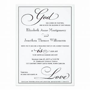 god is love christian script wedding invitation weddings With samples of christian wedding invitations