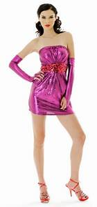 Purple Metallic Tube Dress Party Dresses Neve Bianca