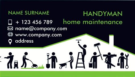 georgetown business card template handyman business cards sles handyman business cards