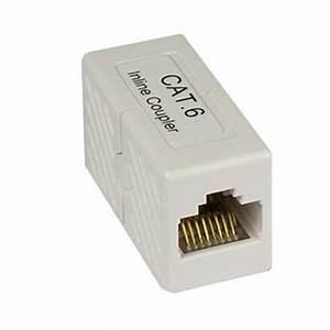 Cat6 Rj45 Modular Inline Coupler Joiner Gigabit Ethernet