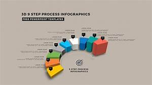 Multi Step 3d Circular Process Diagram Infographics