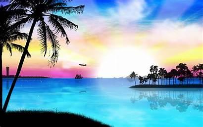 Tropical Desktop Sunset Wallpapers Sun Definition Somewhere