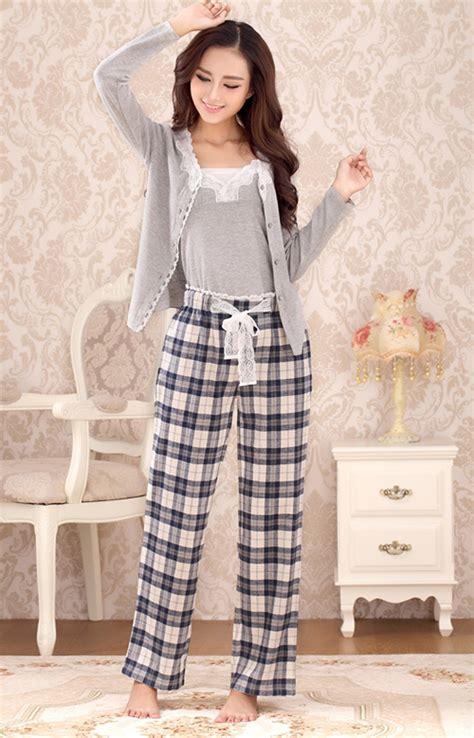2016 Womens Pajamas Spring And Autumn Woven 100 Cotton