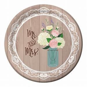 Rustic Wedding Banquet Paper Plates 8