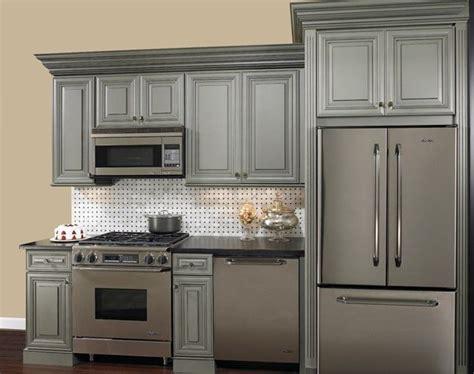 grey glazed cabinets   home pinterest gray cabinets black granite  granite