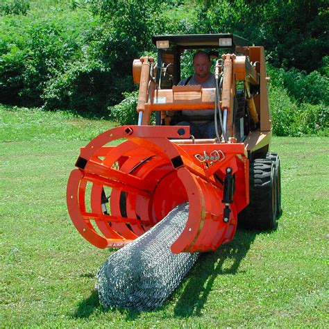 ezg fence hog  ft chain link tractorskid steer attachments implements