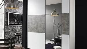 Kleiderschrank Weiß Grau : schwebet renschrank prenzlau kleiderschrank in wei und grau stone 175 ~ Buech-reservation.com Haus und Dekorationen