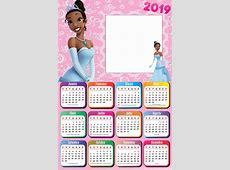 Calendário 2019 Princesa Tiana Imagem Legal