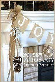 burlap christmas banner idea - Burlap Christmas Banner