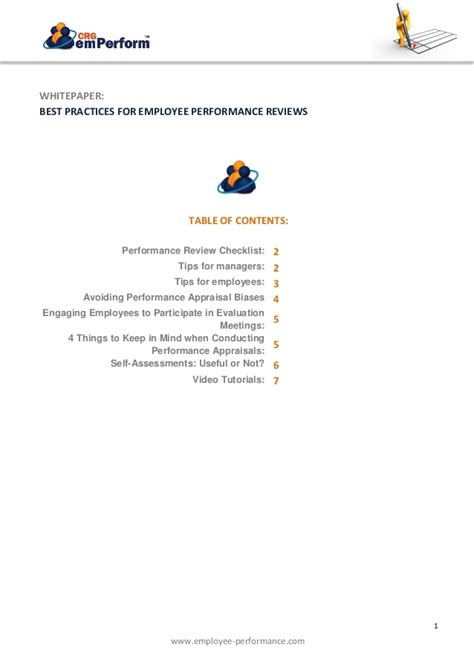 Best Practices For Employee Performance Reviews